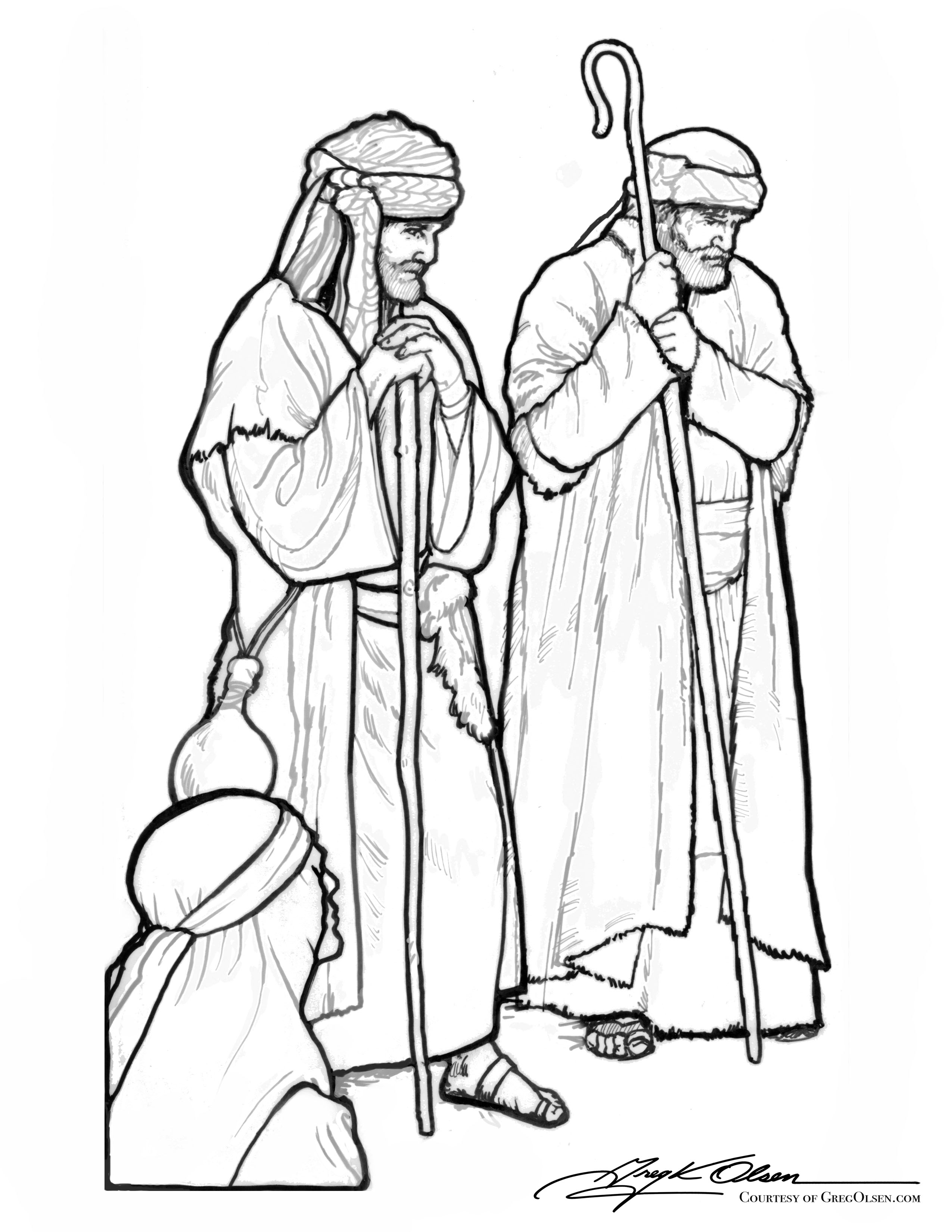 Free christmas shepherds coloring pages ~ Coloring Nativity Scene With Shepherds Coloring Pages