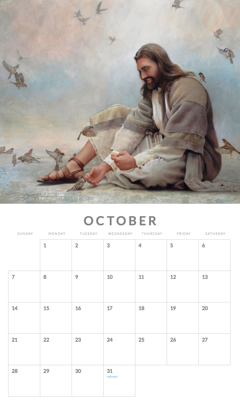 This Traditional 12 Month, 13u2033 X11u2033 Wall Size Calendar, Features Images  That Will Inspire Viewers To Connect With Jesus In A Personal And Intimate  ...