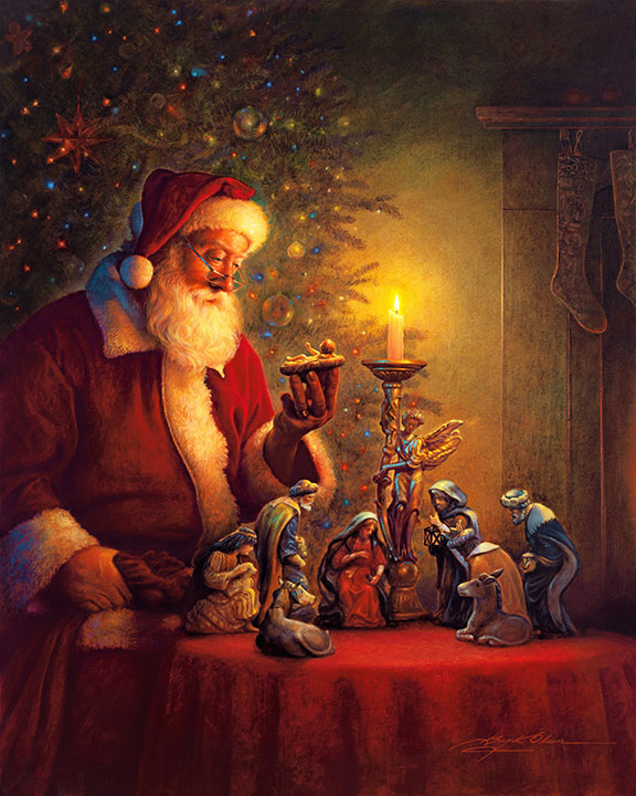 Christmas Art.The Spirit Of Christmas Greg Olsen