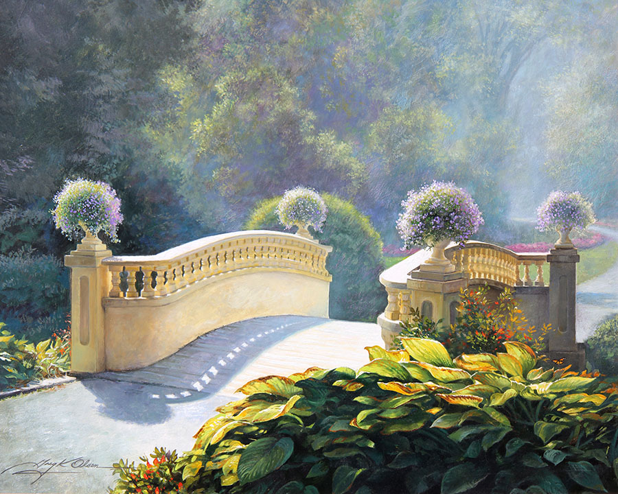 The Garden Bridge Greg Olsen
