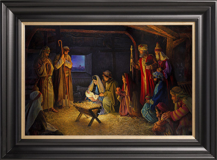The Nativity – 22×36 Limited Edition Canvas Artist Proof (76 S/N) Framed