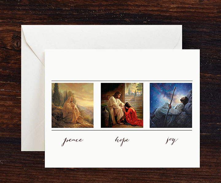 Peace, Hope, Joy Greeting Cards – 10 pack