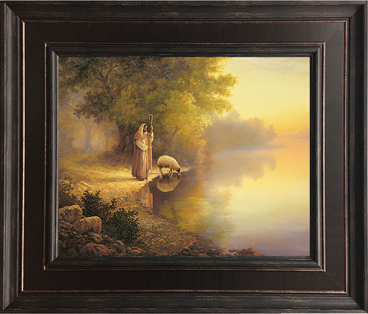 Beside Still Waters – 24×28 Framed Art (SIGNED)