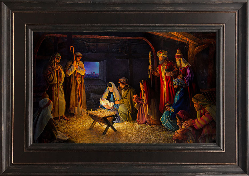 The Nativity – 22×31 Framed Art (SIGNED)