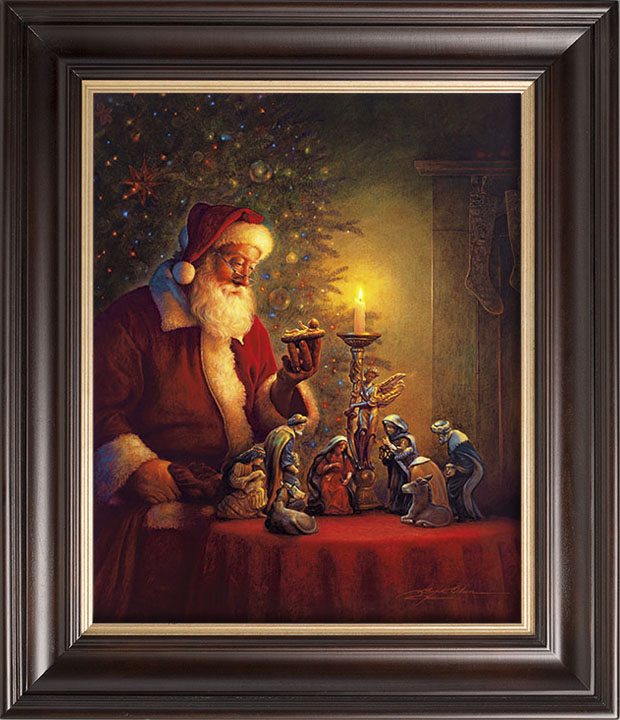 """EXCLUSIVE OFFER  – """"The Spirit of Christmas"""" 34×40 Framed Canvas Art (SIGNED!)"""
