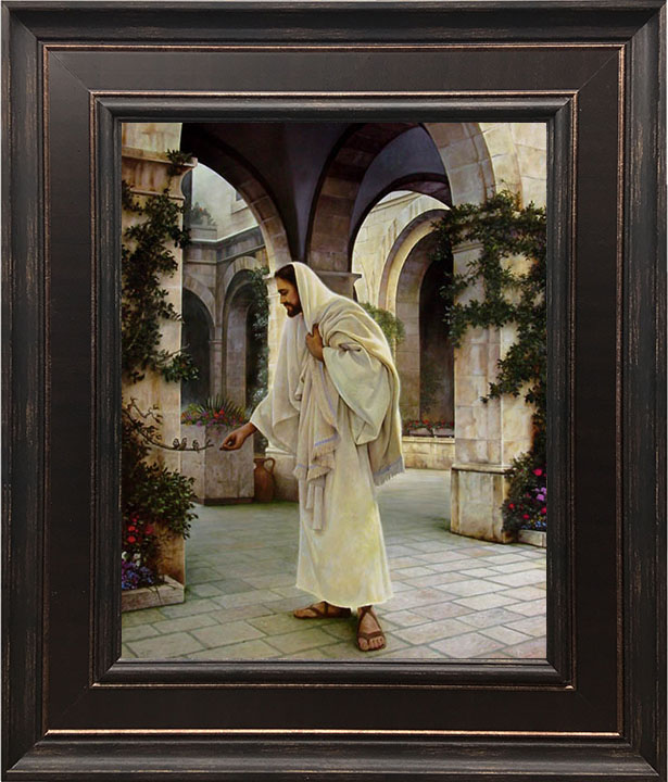 """Exclusive Offer – """"In His Constant Care"""" 18×21 Framed Art"""
